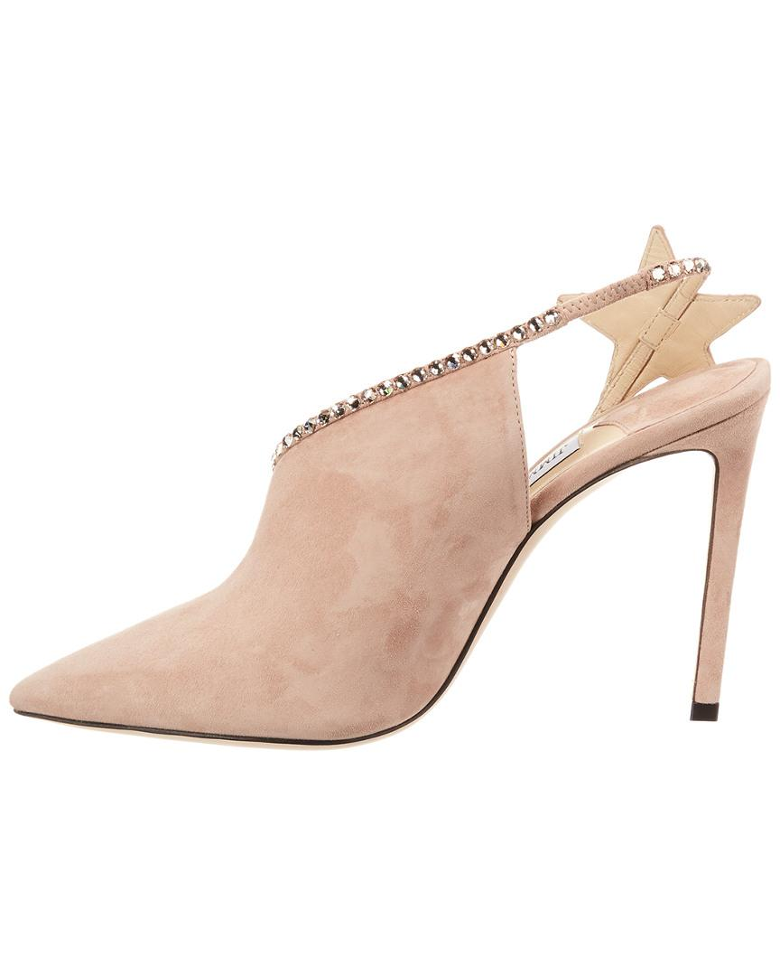 c52e51dc6d0 Lyst - Jimmy Choo Lucette 100 Suede Pump in Pink