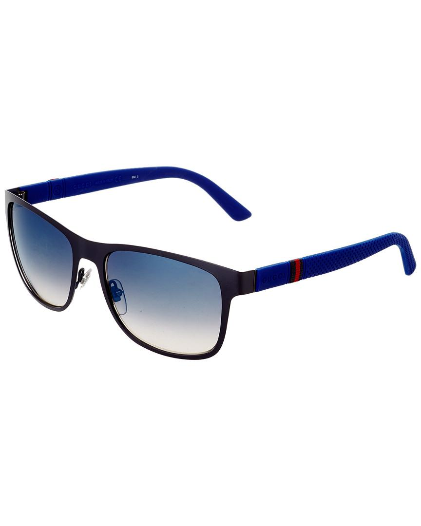 84aaad4742 Lyst - Gucci Men s Gg2247 s 56mm Sunglasses in Blue for Men
