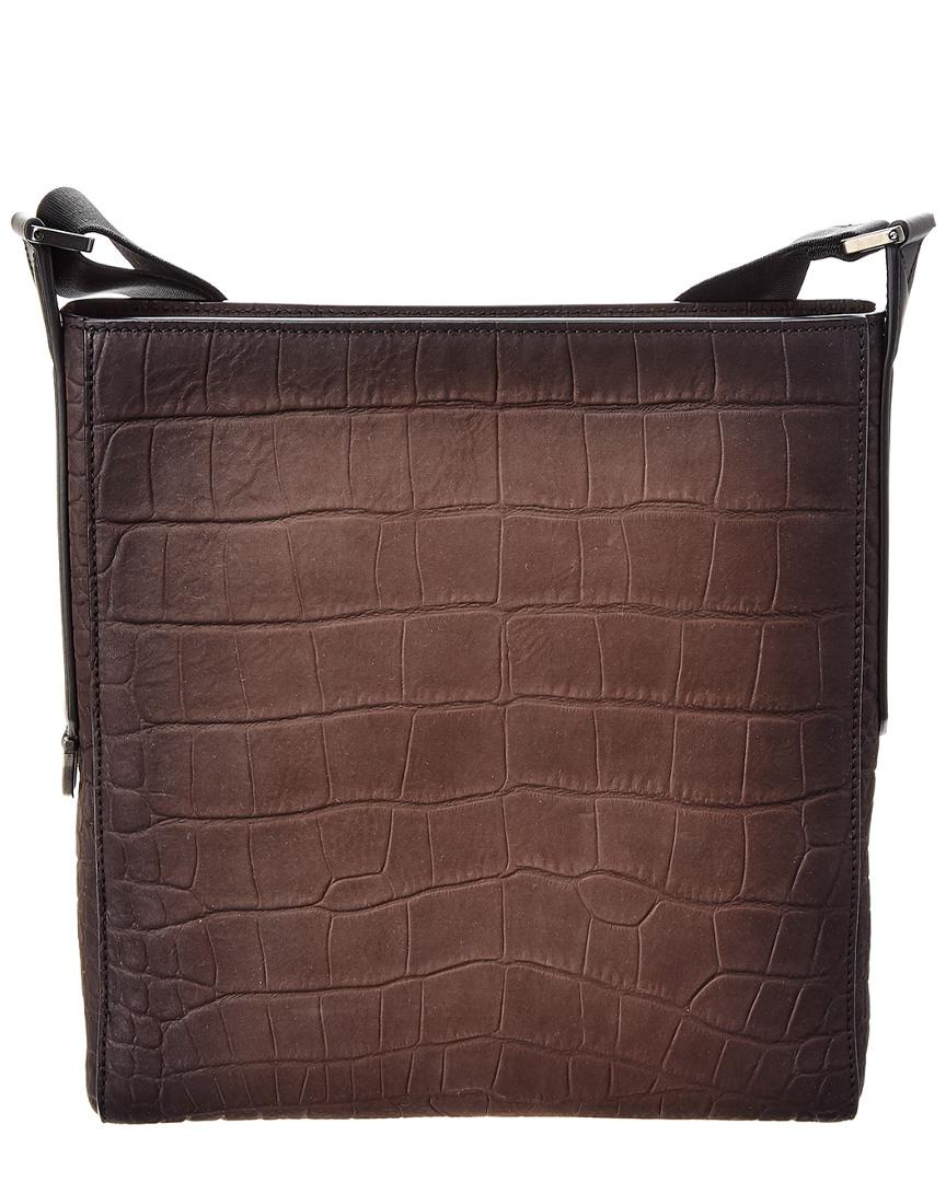 1a69fcbeabf0 Lyst - Ferragamo Leather Messenger Bag in Brown for Men