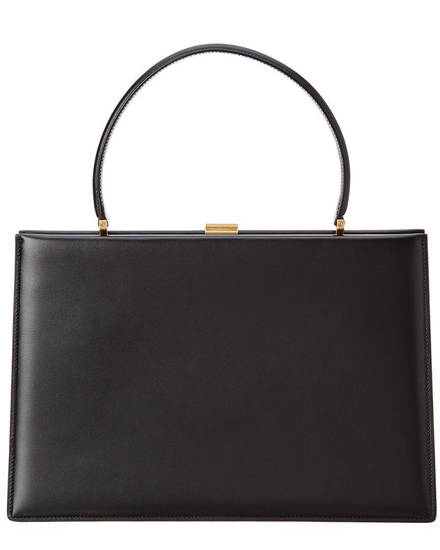 edf4202ebc Lyst - Céline Céline Box Calfskin Leather Medium Clasp Bag in Black
