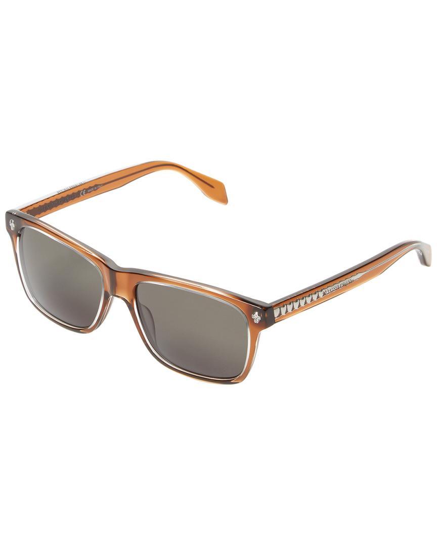 536844586cf2 Lyst - Alexander McQueen Am0025s 57mm Tinted Wayfarer Sunglasses in ...