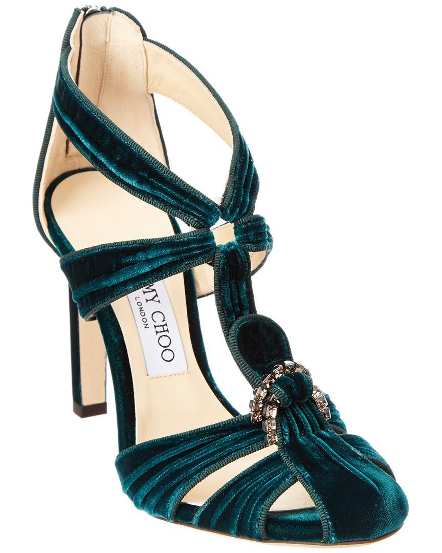 36f5a419b969 jimmy-choo-Green-Krissy-100-Crystal-Embellished-Velvet-Round-toe-Pump.jpeg