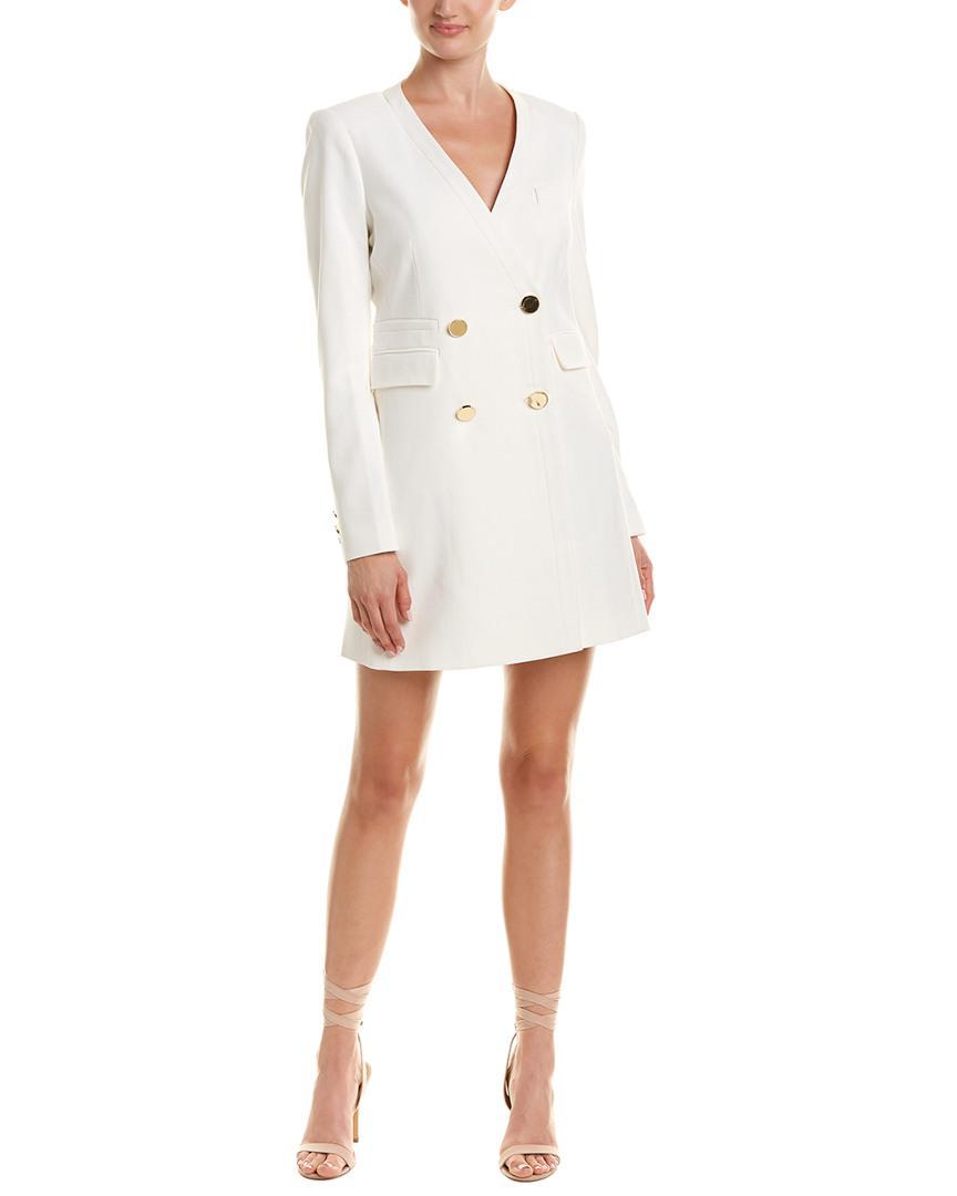 f1747a3b20f Rachel Zoe Betty Blazer Wrap Dress in White - Lyst