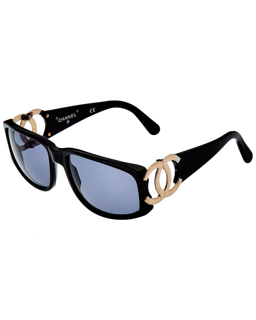 37bf118f5d Cat Eye. Chanel - Black Large Cc 60mm Sunglasses - Lyst. View fullscreen