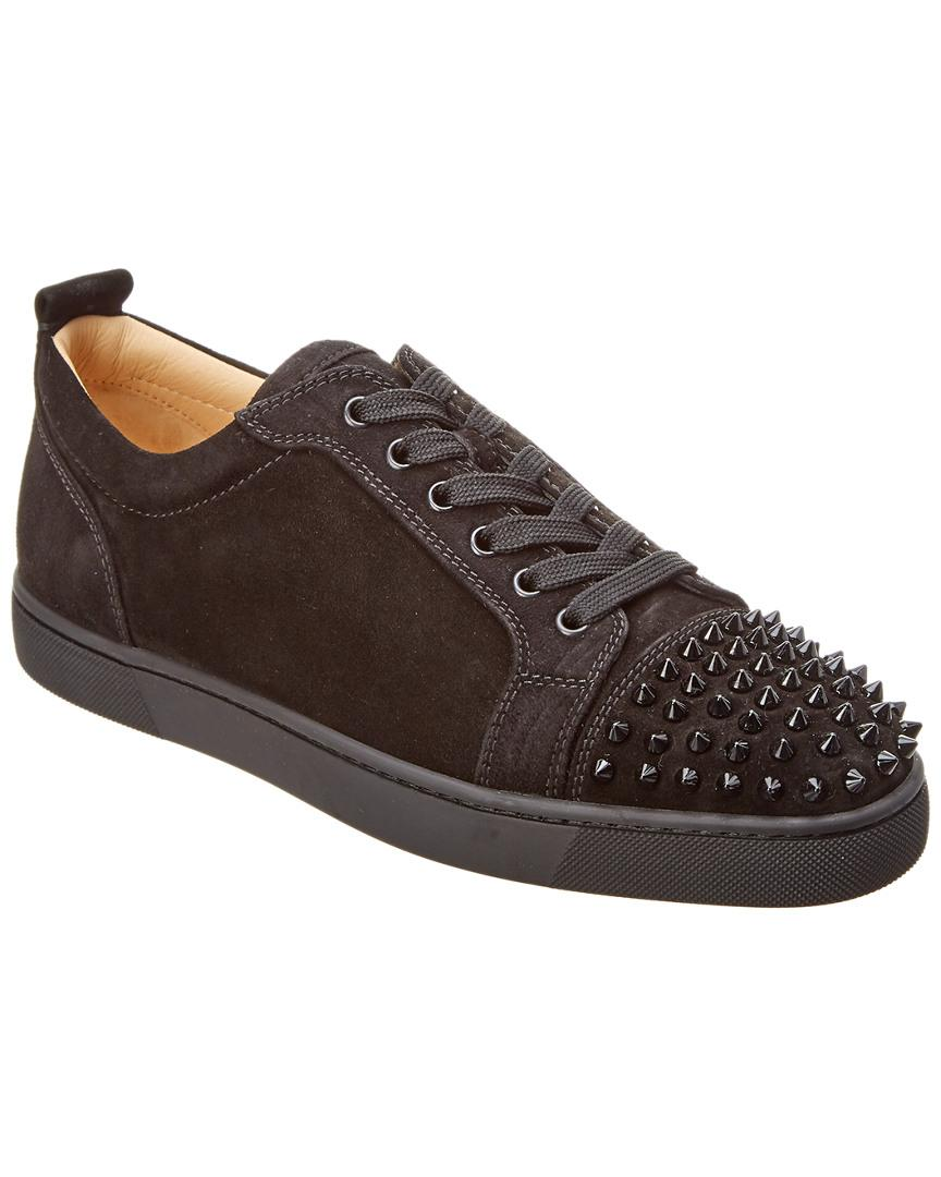 2673c1b1ea2 Lyst - Christian Louboutin Louis Junior Spikes Suede Sneaker in ...