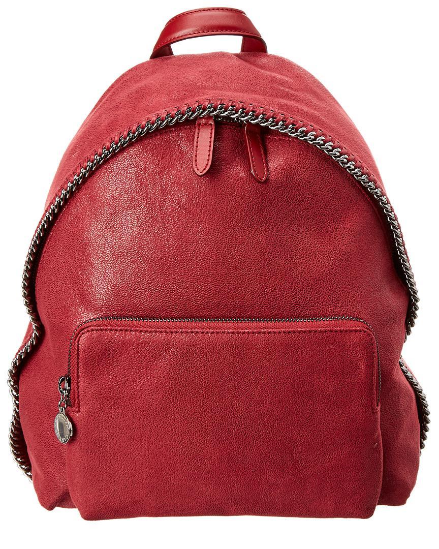 1eee3ca5fd4e Stella McCartney Mini Falabella Shaggy Deer Backpack in Red - Save ...