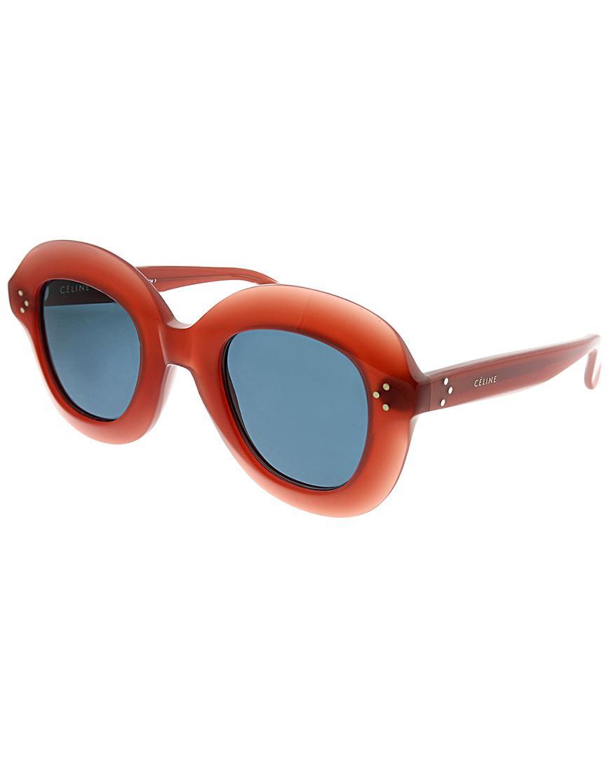 656b8fa3df Céline Céline Women s Round 46mm Sunglasses in Pink - Lyst