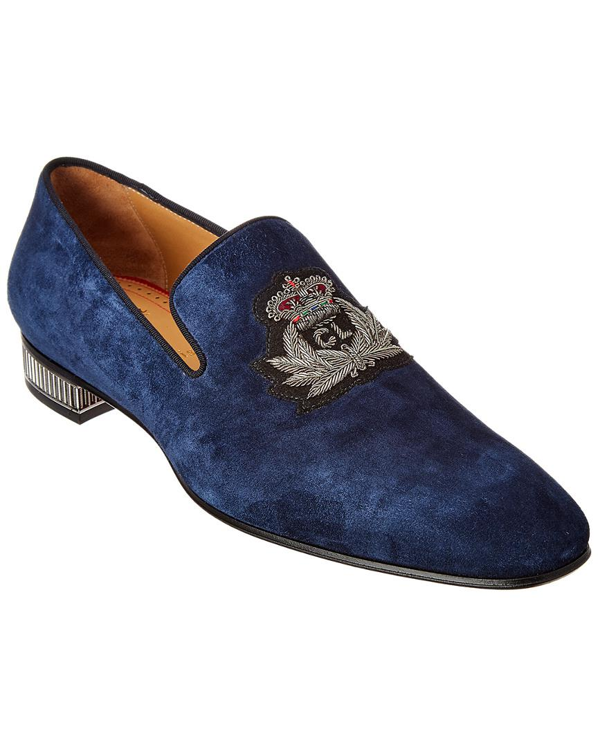 beaf248e8c8 Christian Louboutin Suede Loafer in Blue for Men - Save 5% - Lyst