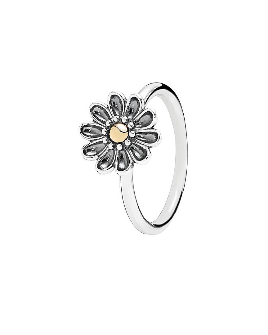 Lyst Pandora Oopsie Daisy Silver 18k Ring In Metallic