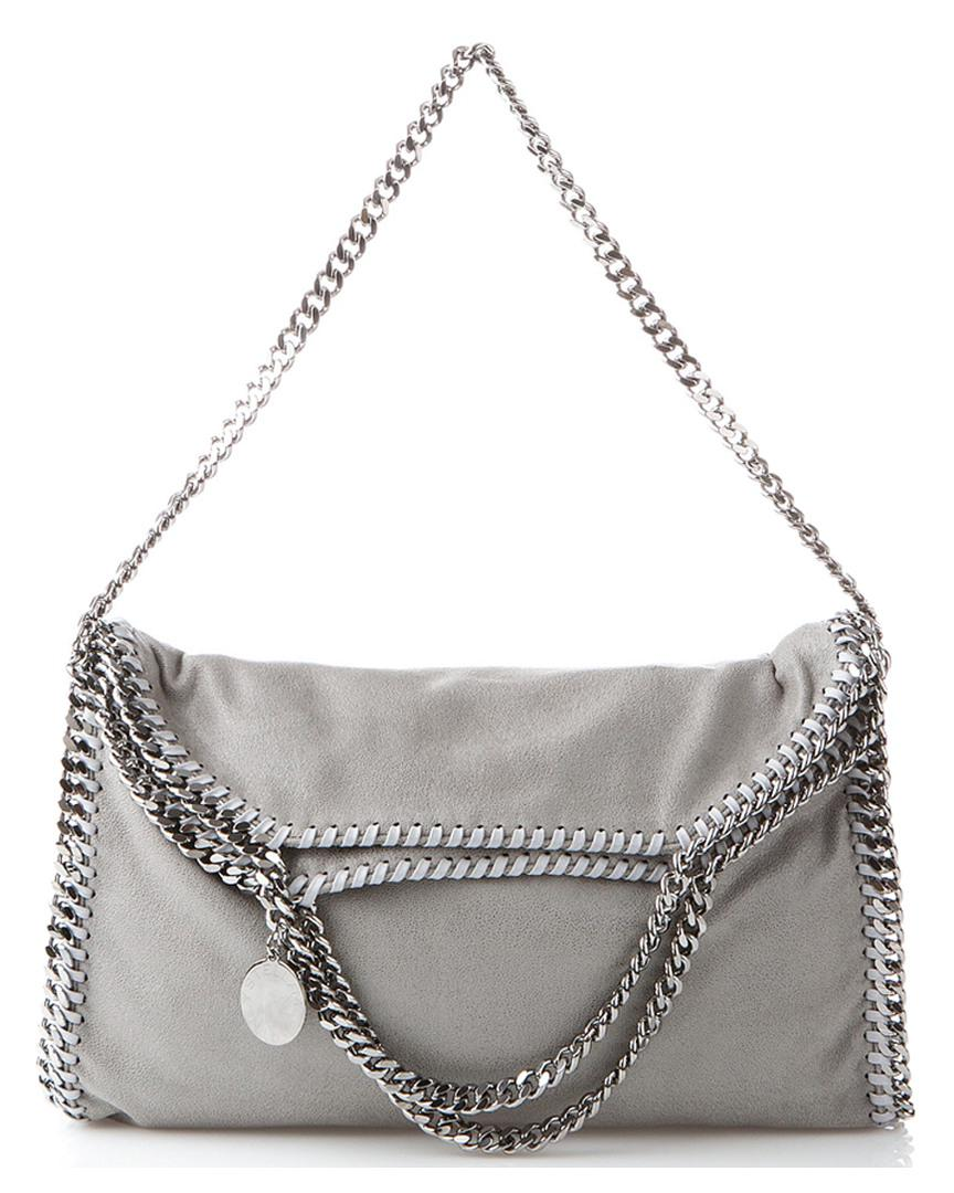 90a6d7494ab25 Lyst - Stella McCartney Falabella Shaggy Deer Fold Over Tote in Gray