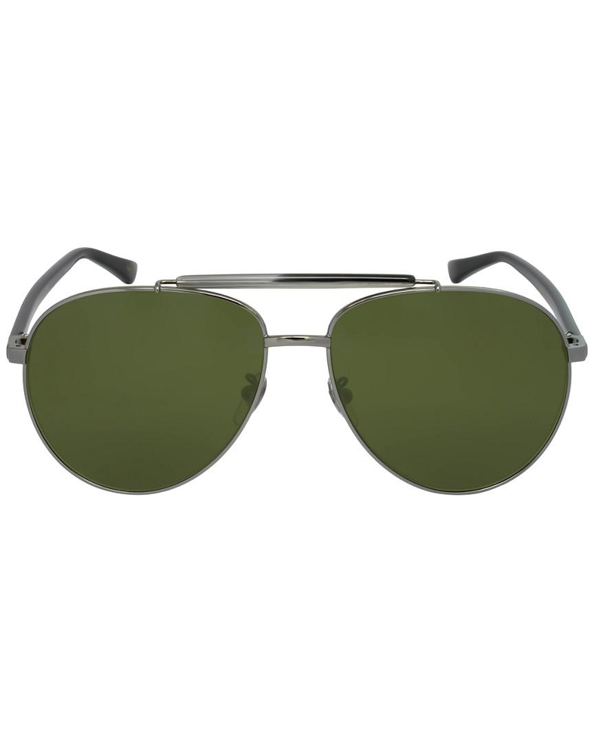 a52be8c179c26 Lyst - Gucci GG0014S 60mm Sunglasses in Green