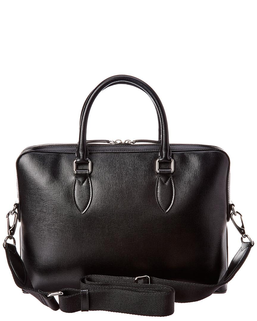 ae6d60bcff30 Lyst - Burberry Slim Barrow Leather Briefcase in Black for Men - Save 40%