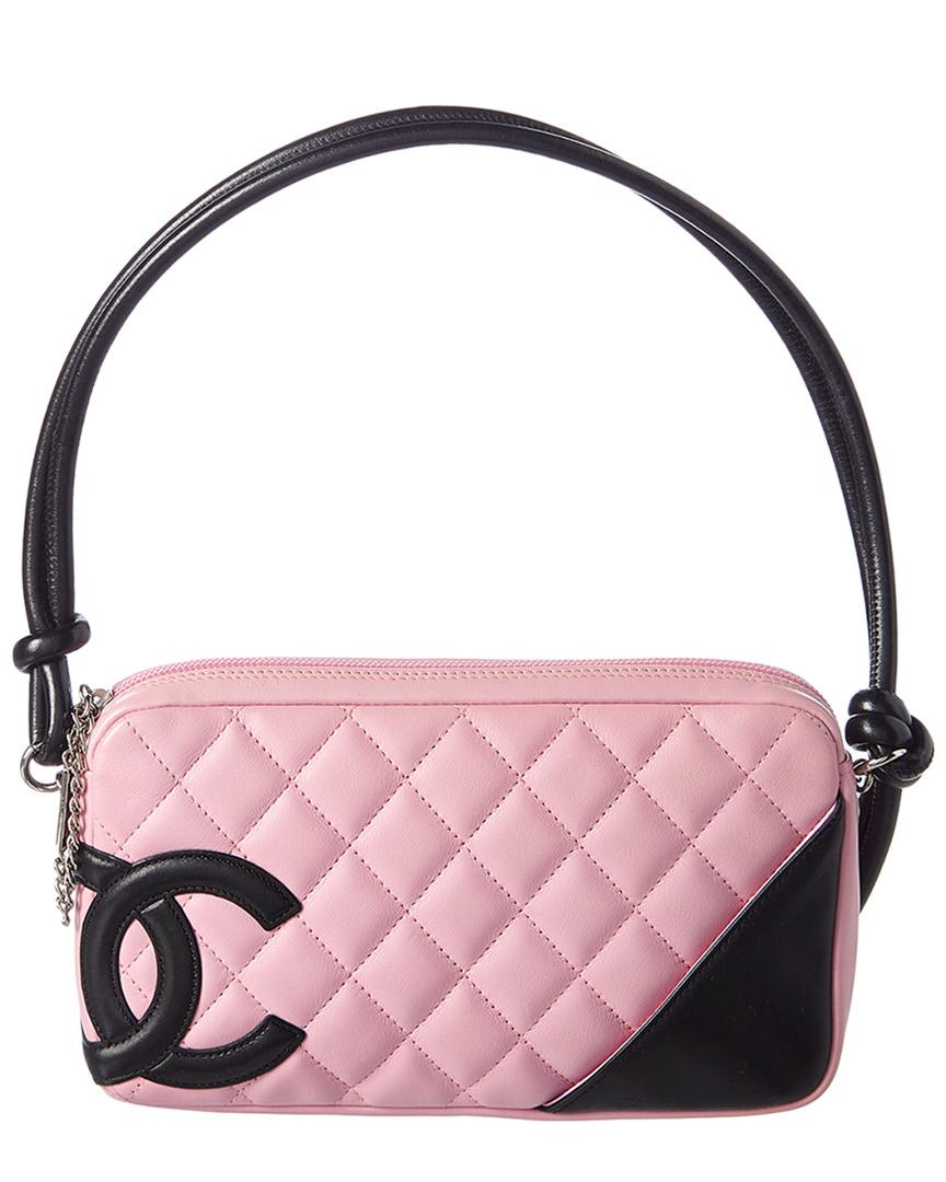 a432aa67366d Lyst - Chanel Pink Quilted Lambskin Leather Cambon Pochette in Pink