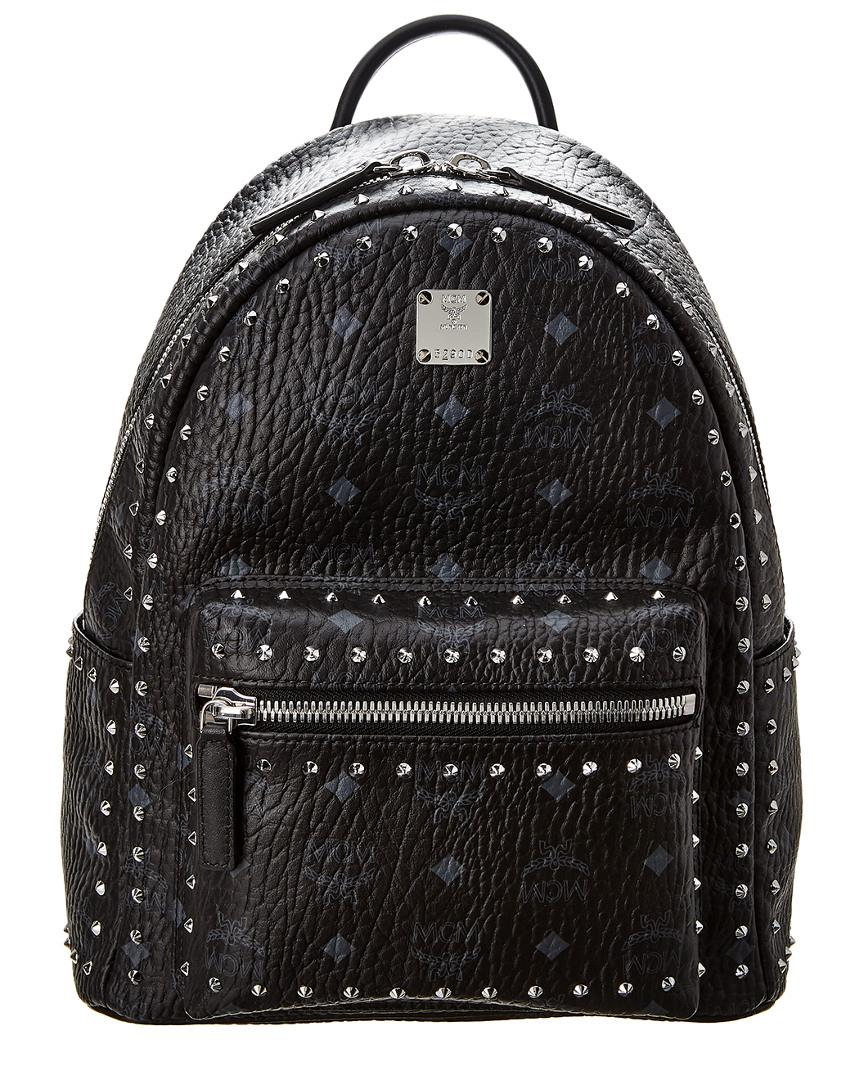 ea3a2c6ea05 Lyst - MCM Stark Studded Small Visetos Backpack in Black - Save 40%