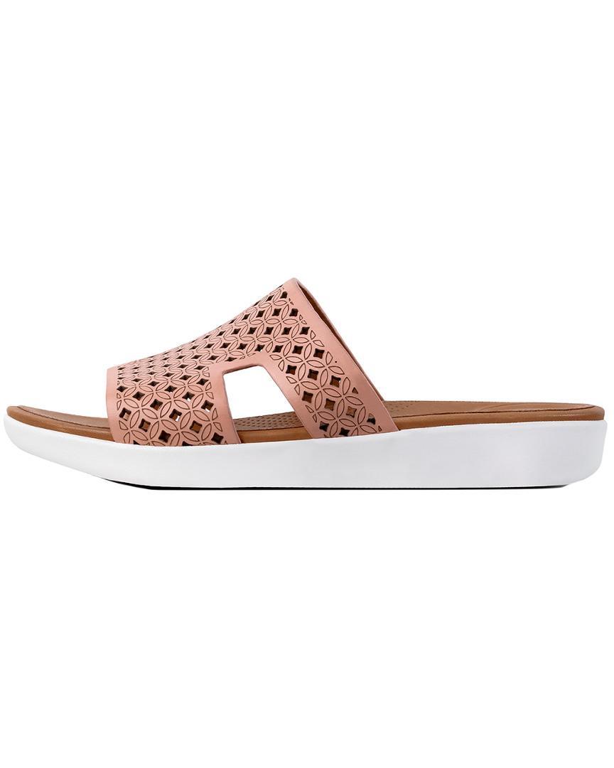 8607c35bc048 Fitflop H-bar Slide Sandal in Pink - Lyst