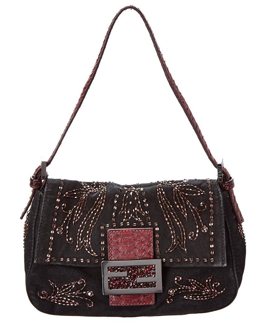 7e2b7036789f Lyst - Fendi Limited Edition Black Embellishment Mini Mamma Bag in Black