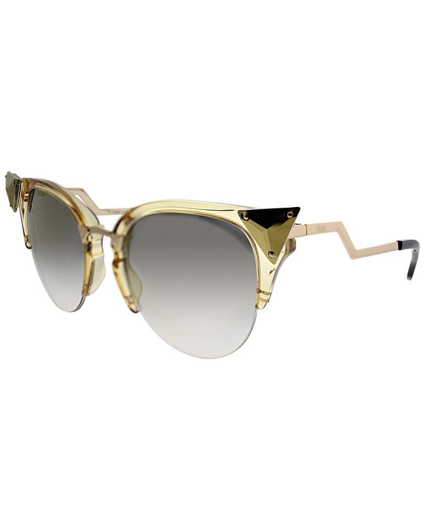 76dd3e2306 Lyst - Fendi Ff0041 s 52mm Sunglasses in Metallic