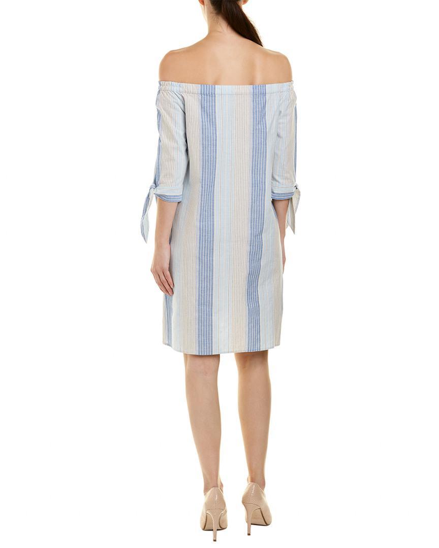 b0b578bedc Lafayette 148 New York Petite Natalya Linen-blend Shift Dress in Blue -  Save 19% - Lyst
