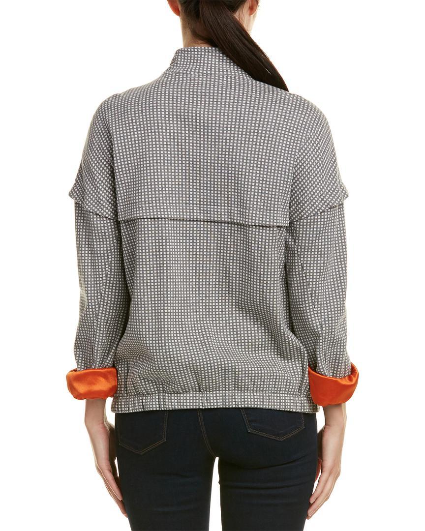 f4502b79b84c5 Lyst - Joan Vass Jacket in Gray - Save 7.692307692307693%