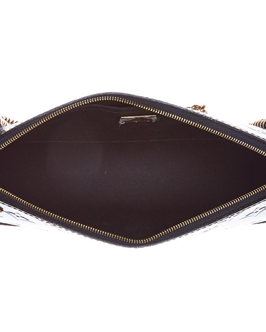 12c2454b2af9 Lyst - Louis Vuitton Black Monogram Vernis Leather Santa Monica in Black