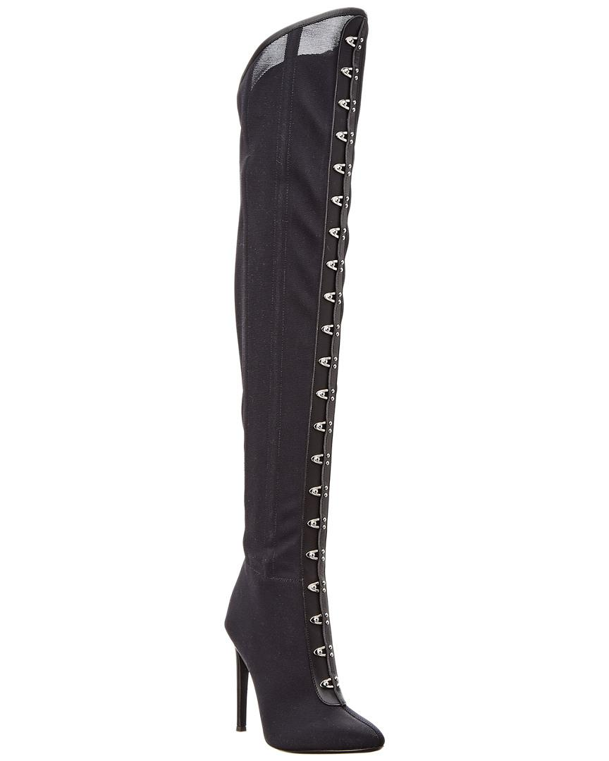 992d38bfdeabd Lyst - Giuseppe Zanotti Mesh Over The Knee Boot in Black - Save ...
