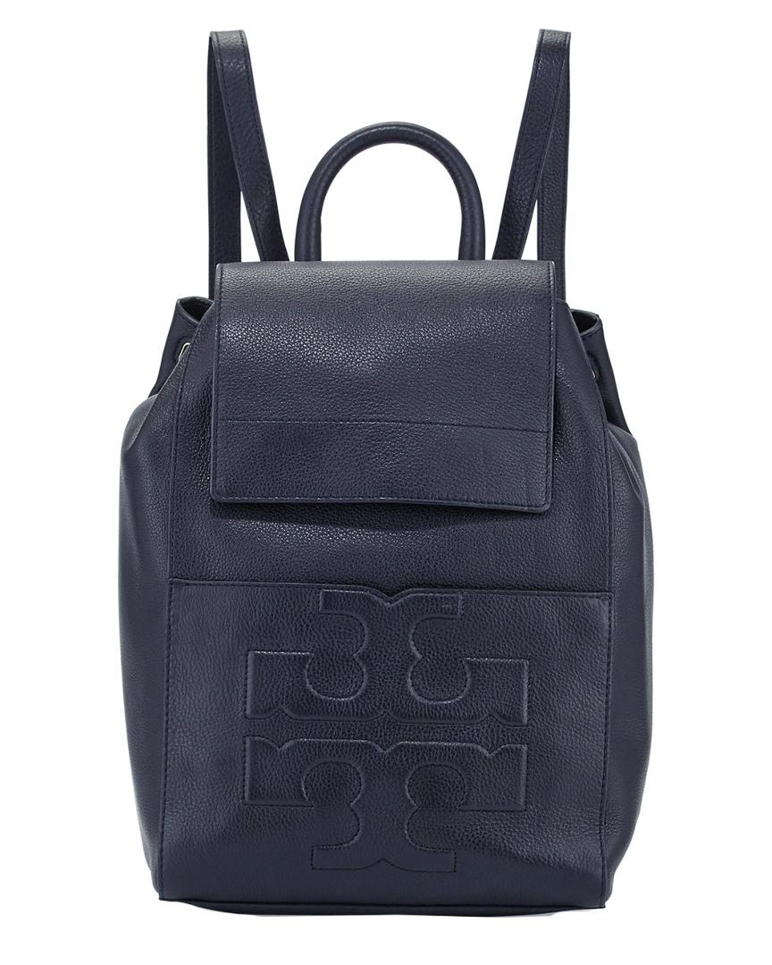 c5e5a36d57d6 Tory Burch Bombe-t Flap Leather Backpack in Blue - Lyst
