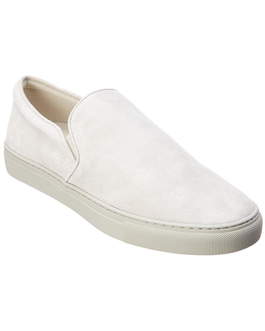 e7878f94ca2 Lyst - Donald J Pliner Suede Slip-on in White for Men