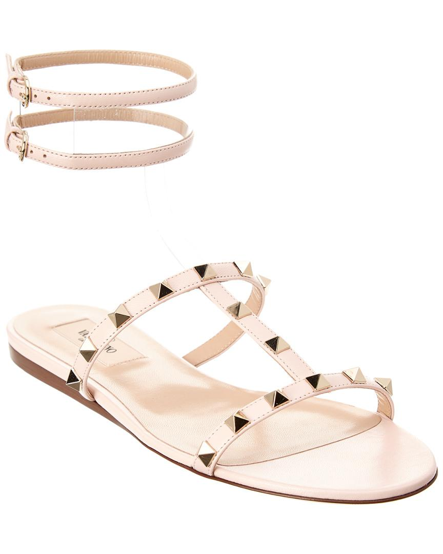 3c65a5e729a959 Valentino Moonwalk Studded Leather Gladiator Sandal in Pink - Save ...