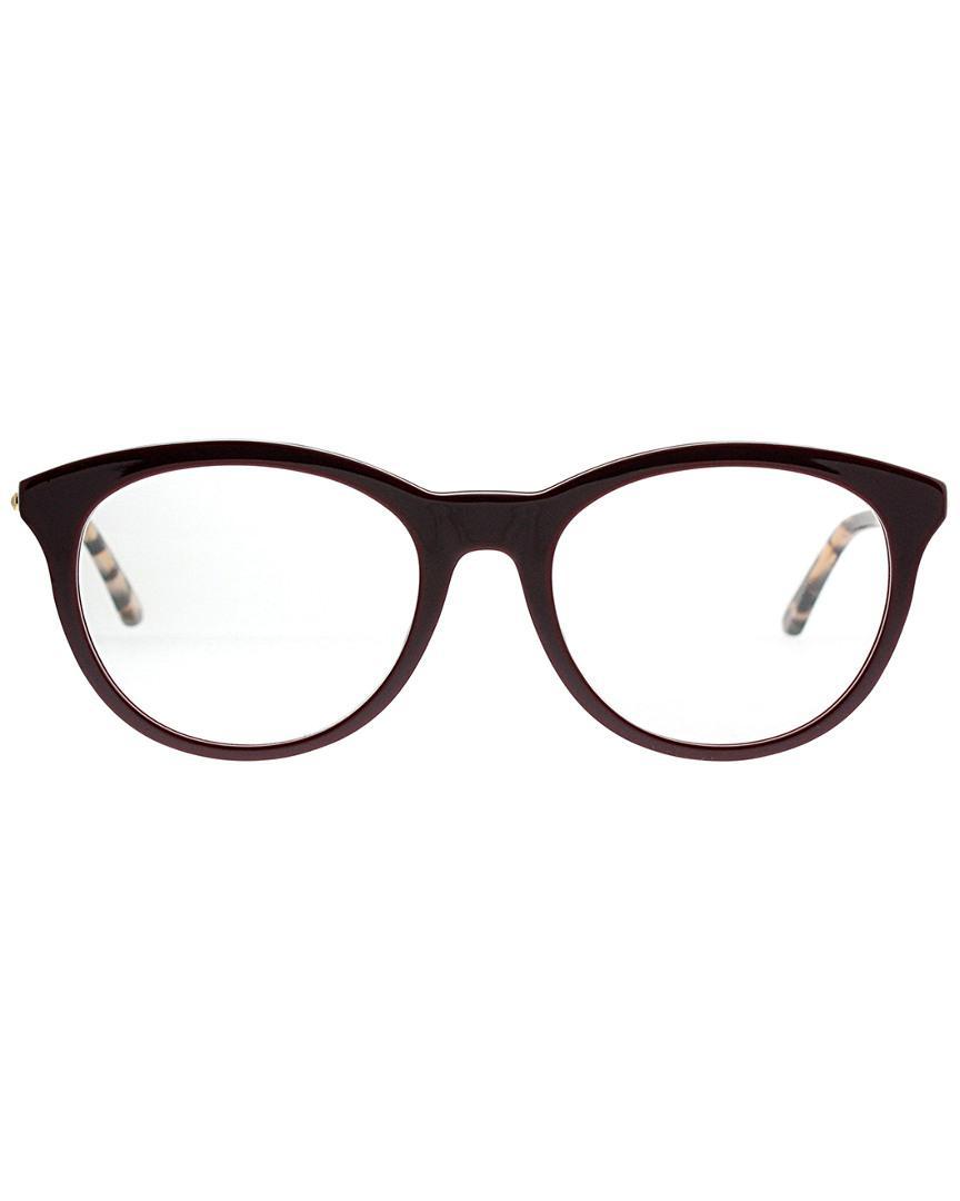 549ac924c0b Lyst - Dior Women s Round 52mm Optical Frames in Brown