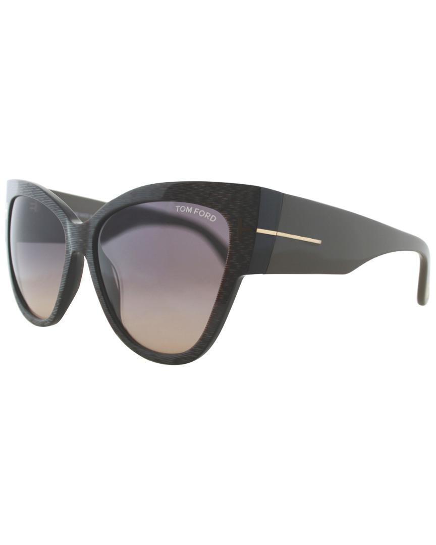 ebe408a7c5 Tom Ford - Gray Anoushka Sunglasses - Lyst. View fullscreen