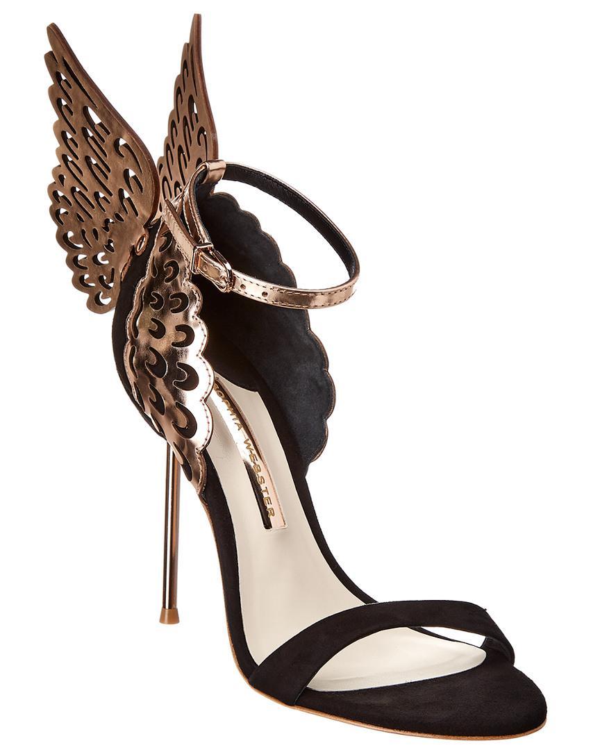 60b8424437e Lyst - Sophia Webster Evangeline Suede   Leather Sandal in Black