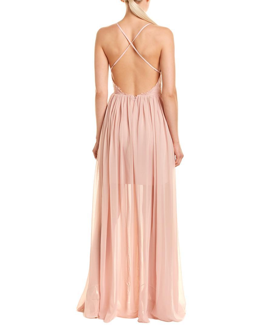 99c8da25382 Dress the Population Phoebe Maxi Dress in Pink - Save 1% - Lyst