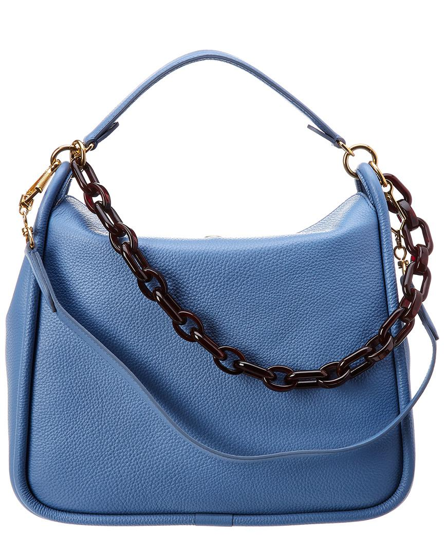 7f0f5b284f Lyst - Mulberry Leighton Small Leather Shoulder Bag in Blue