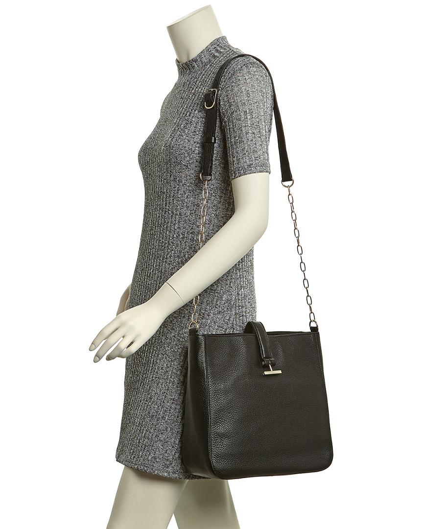 Halston Heritage Leather Crossbody Bucket Bag in Black - Lyst 1e74c51e01b6d