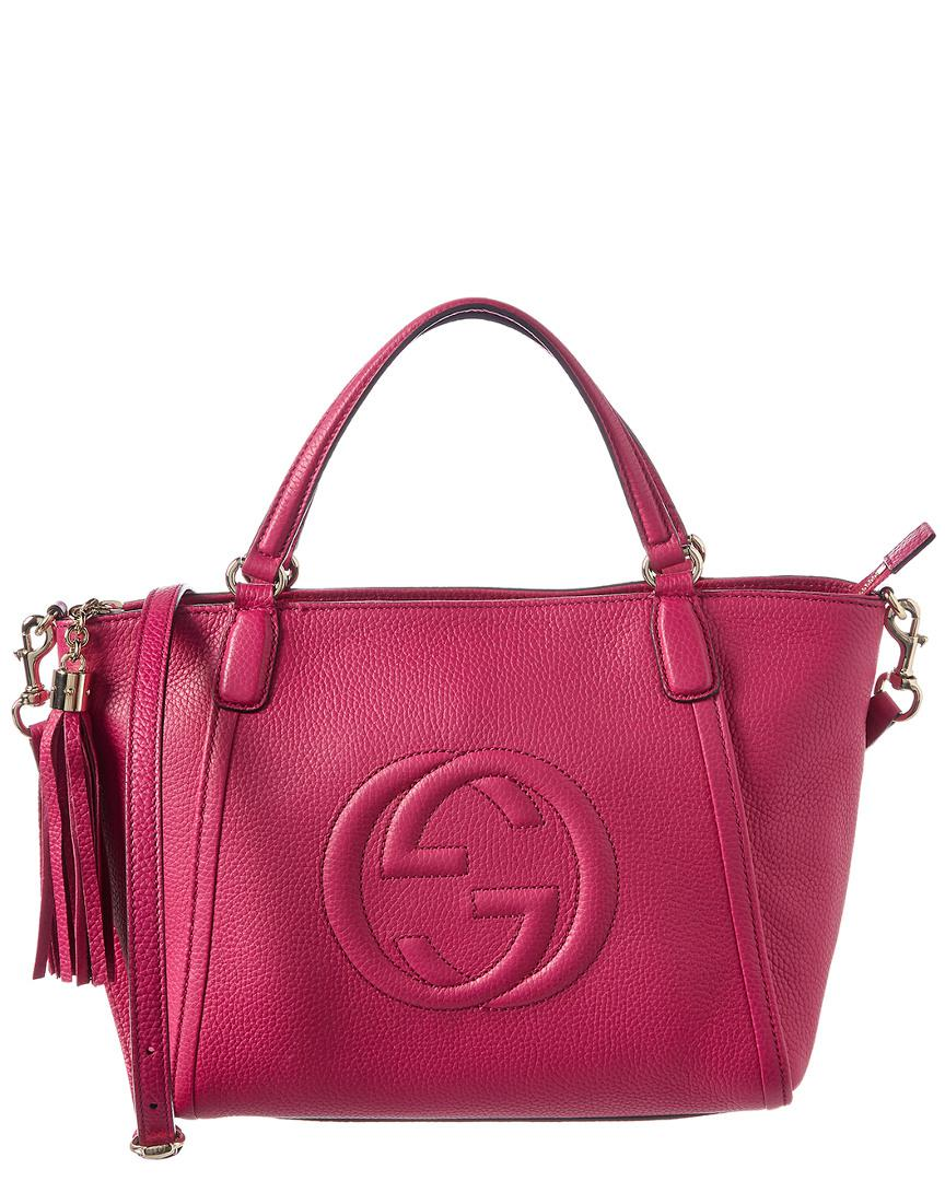Lyst - Gucci Pink Leather Soho Shoulder Bag in Pink - Save ... 96db24e801798