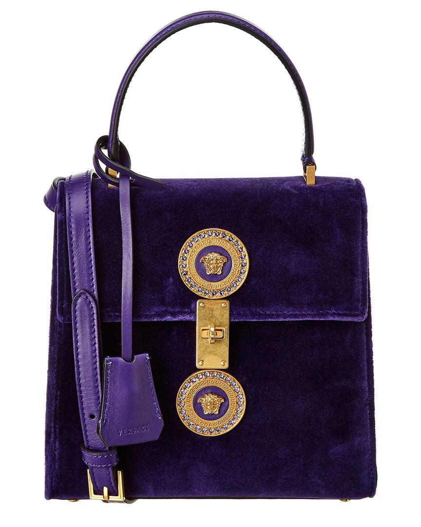 Versace - Purple Icon Leather Satchel - Lyst. View fullscreen 8c0680321d8ed