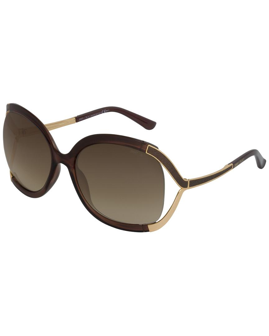 516bbd4de55 Jimmy Choo Beatrix s 61mm Sunglasses in Brown - Lyst