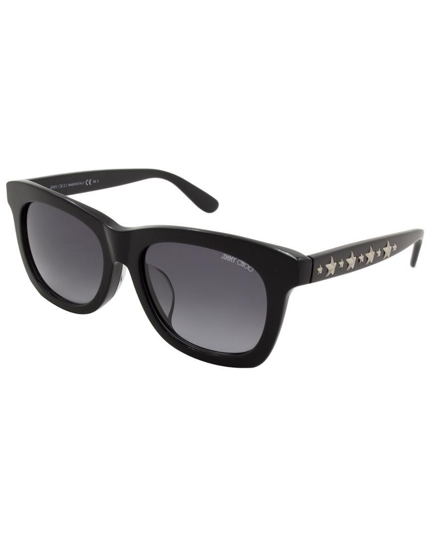 cff6182ed57 Jimmy Choo - Black Sasha f s 53mm Sunglasses - Lyst. View fullscreen