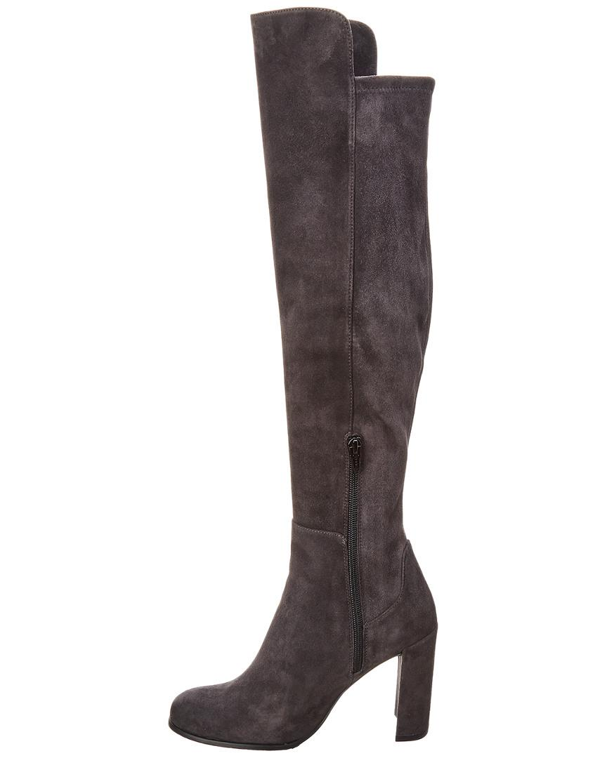 9ba233cf486 Stuart Weitzman Alljill Suede Over-the-knee Boot in Gray - Save  7.7720207253886% - Lyst