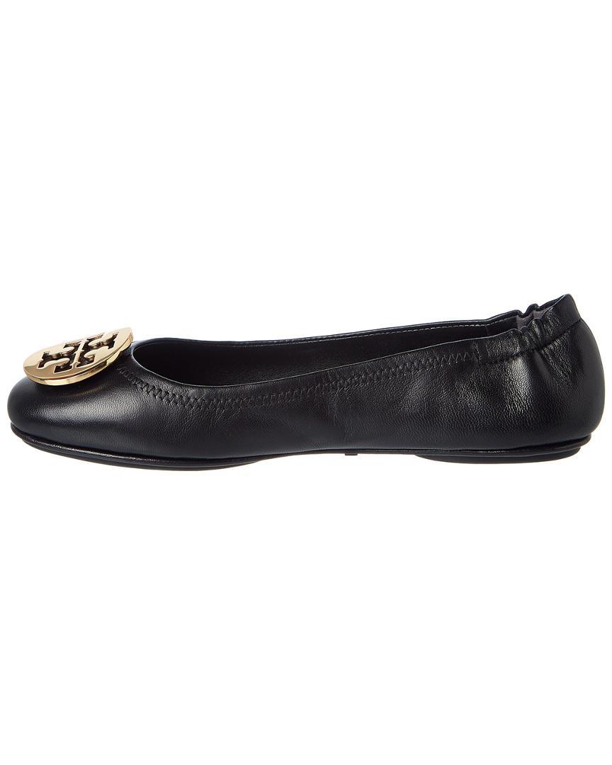 883a2e2ca Lyst - Tory Burch Minnie Travel Ballet Flat (black gold) Women s ...