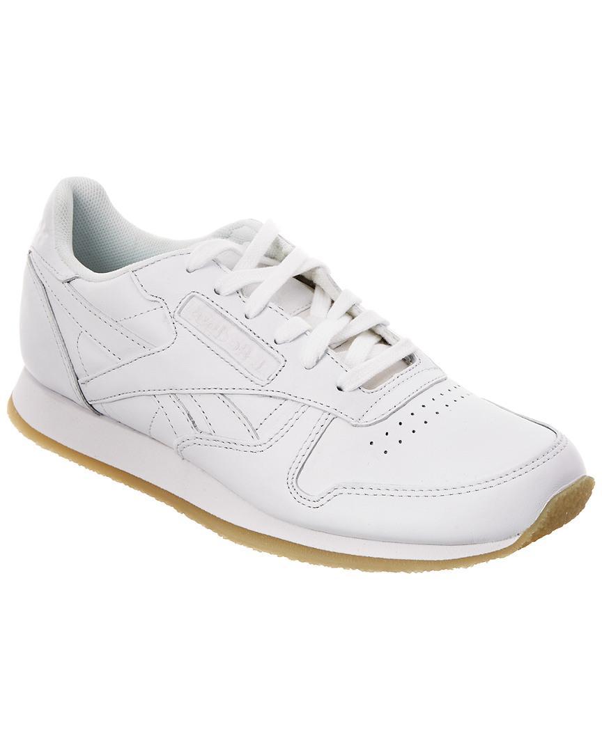 0134bd39f17 Lyst - Reebok Women s Classic Leather Sneaker in White for Men