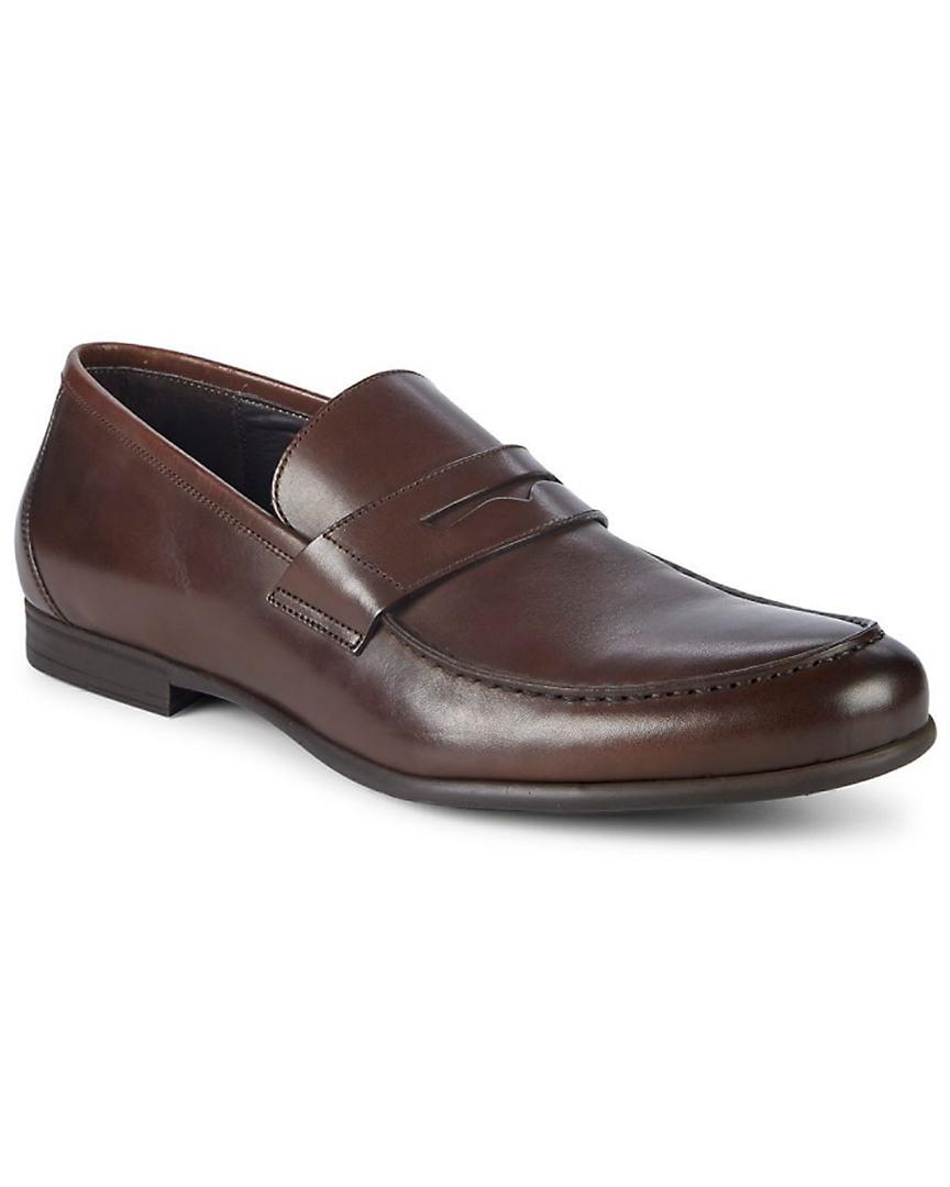 7d528f0e33e Harry s Of London. Men s Brown Harrys Of London James Leather Penny Loafers