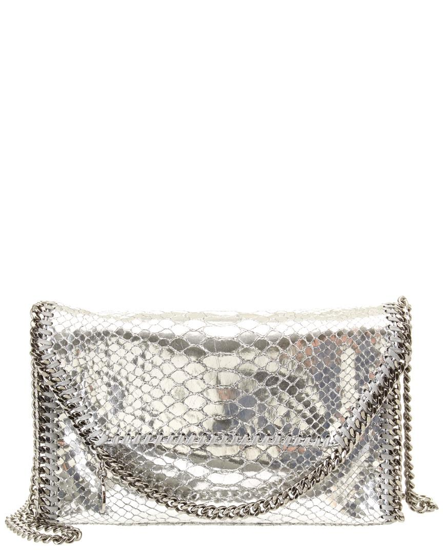 d7432b852c Lyst - Stella Mccartney Falabella Metallic Alter Snake Mini Bag in ...