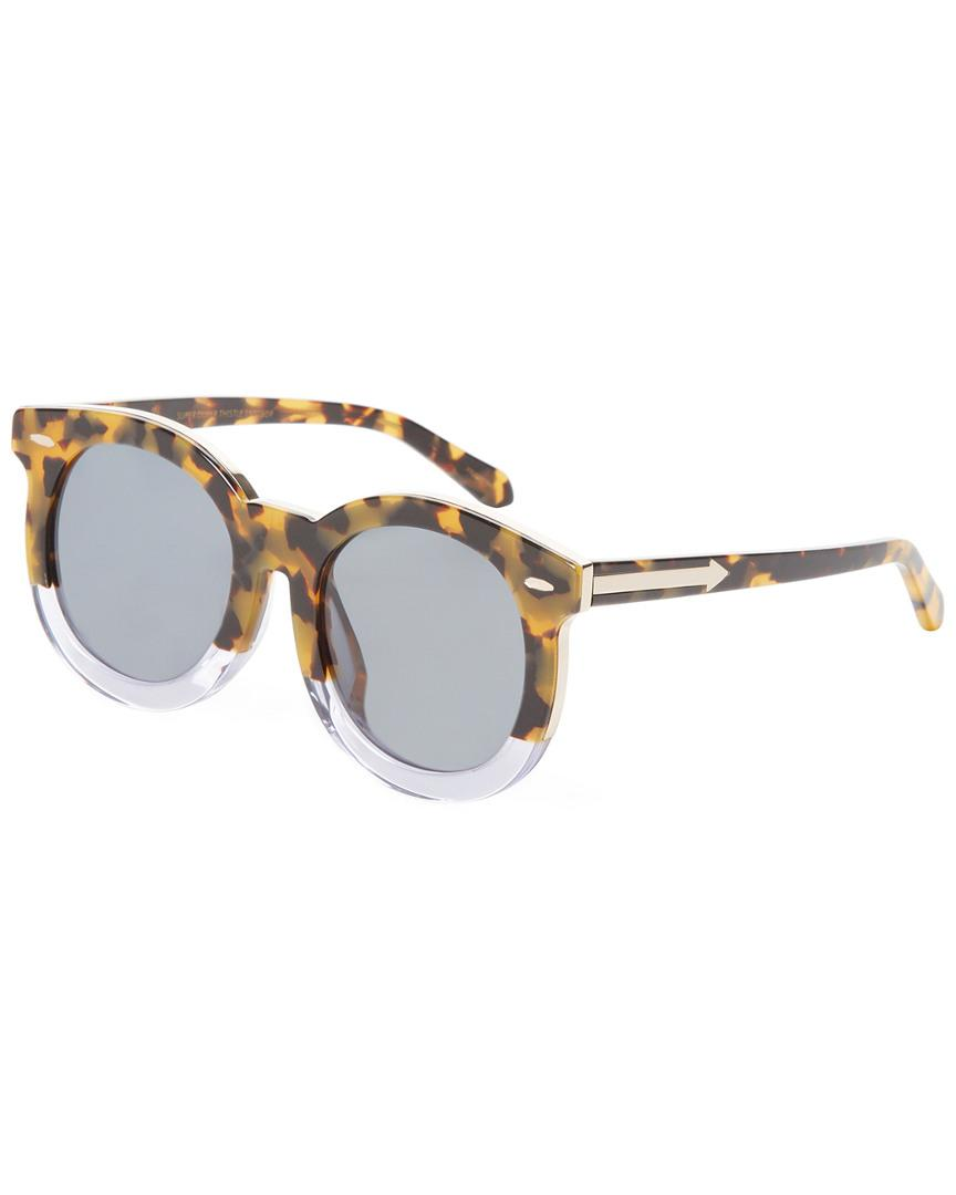 a31c8ca3320 Karen Walker Women s Alternate Super Duper Thistle Sunglasses - Lyst