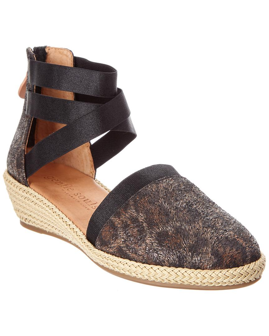e8a3e0383380 Lyst - Gentle Souls Noa-beth 2 Leather Wedge in Black - Save ...