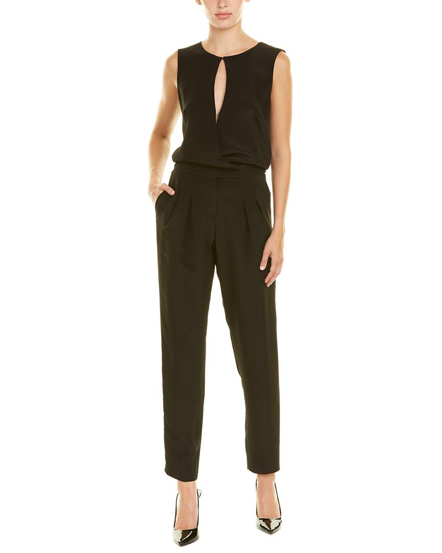 0cb025969bcf Lyst - Akris Silk Jumpsuit in Black - Save 53.57142857142857%