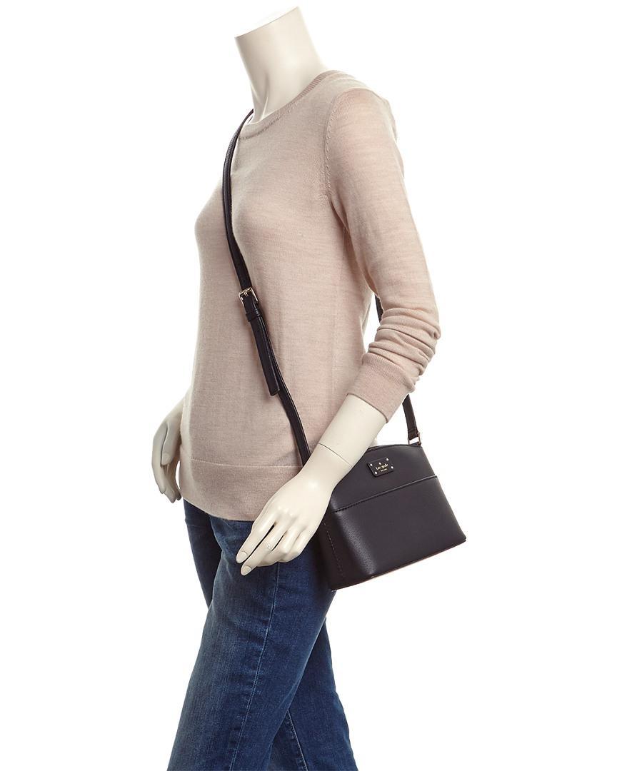 5fd406fd3 Kate Spade Grove Street Millie Leather Crossbody in Black - Lyst