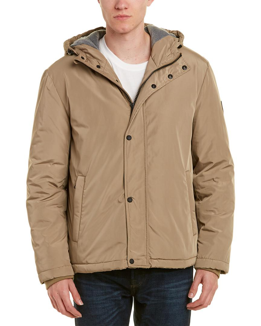 17d1807e68ed Lyst - Cole Haan Signature Oxford Rain Jacket in Natural for Men ...