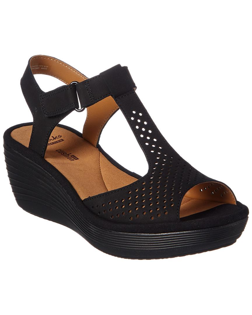 5f4c70145c5f Lyst - Clarks Collection Reedly Waylin Wedge Sandal in Black