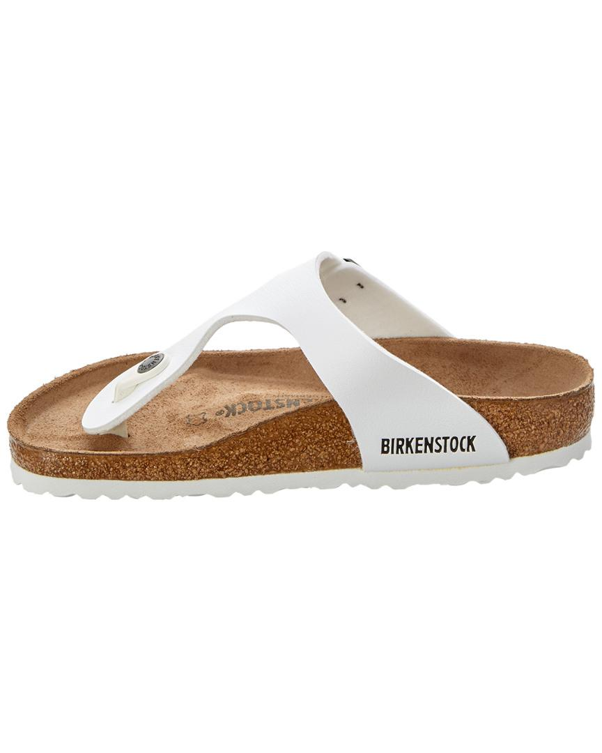a73b45cdea93c4 Lyst - Birkenstock Gizeh Birko-flor Leather Sandal in White - Save  5.063291139240505%